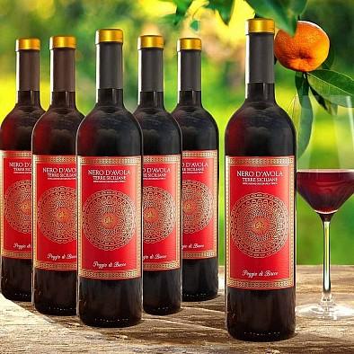 Výhodné balení 6 lahví Nero Sicílie DOC