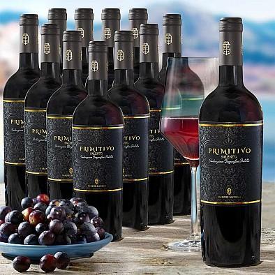 Výhodné balení 12 láhví Primitivo Salento IGT Barone Mavelli