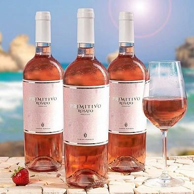 3x Primitivo Rose IGT Puglia výhodné balení