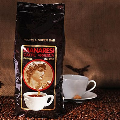 Manaresi Espresso Super Bar Brown, zrnká