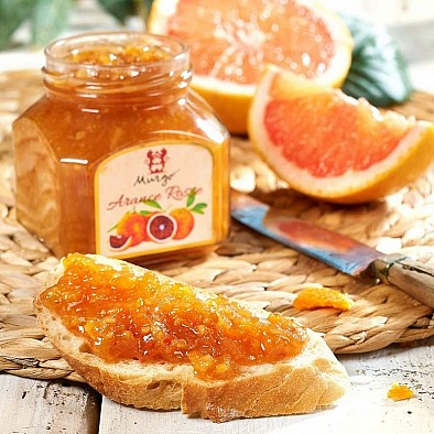 Marmeláda s červeného pomaranče
