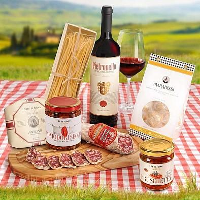 Italský dárkový koš Corbello Rosso