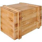 Mimořádně velká masivní dřevěná krabice s posuvným víkem